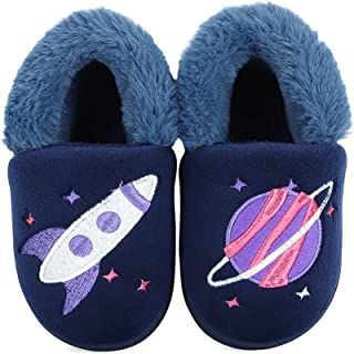 Cheerful Mario 男孩女孩拖鞋家用保暖幼儿拖鞋防滑小童拖鞋可爱冬季婴儿拖鞋