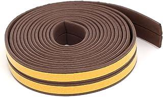 Sourcingmap 2.5 米 8.2 英尺 EPDM 泡沫橡胶自粘防风雨条密封条棕色 2 件