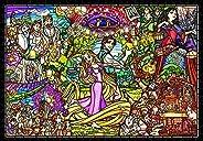 拼图游戏 塔上的长发公主 故事 彩色玻璃 [彩绘艺术紧凑] 500片 (25x36厘米)