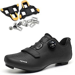 女式 Peloton 鞋带 Delta Cleats 组合,室内旋转自行车鞋 SPD-SL 锁定公路自行车鞋