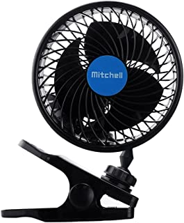 Jhua 12V车载风扇 汽车冷却车载风扇 强大静音无速通风 电动车风扇 带点烟器插头 夏季 Clip Fan