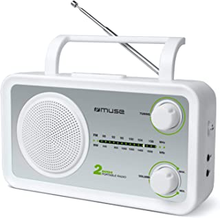Muse M-06 DS 厨房收音机(FM M,MW)收音机,电源和电池驱动,AUX输入,适用于手机,耳机插孔,伸缩天线M-06 SW
