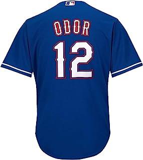 OuterStuff Rougned Odor 德州游骑兵蓝色青年酷底备用球衣