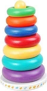 丹铛商贸 新扬光  经典婴儿玩具SUNNY 七彩套圈 音乐七彩虹塔 还带不倒翁功能