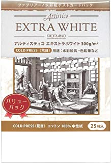Muse 水彩纸 *白色明信片 粗纹 明信片 25张装 PEX-CP