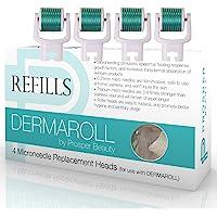 Derma Roller Microneedle 4 件套仅替换装套装 [DERMAROLL REFILLS by Pr…