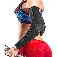 Sparthos 肘部压缩护套(一对) - 网球和高尔夫球手肘支撑 - 男士和女士护肘 - 采用创新型透气弹性混合制成