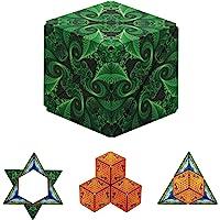 GeoBender - 3D磁性立方体,可打造104种造型,抗压磁性积木,适合活动和放松的魔方思维游戏,适合儿童和成人