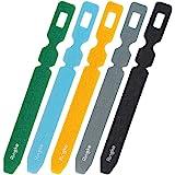 Ringke 魔法电缆扎带单色可重复使用的钩环带整理器,用于固定电缆和电线 (50PCS)