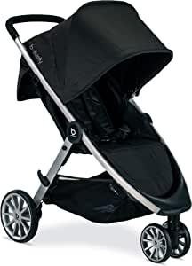Britax 宝得适 B-Lively 轻便型婴儿车-高至55磅(约24.94kg)- 兼容汽车座椅 - UV 50+顶篷-易折叠,乌黑