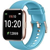 Letsfit 智能手表 适用于 Android 手机 兼容 iPhone 三星 健身追踪器 带血氧饱和度和心率监测器…