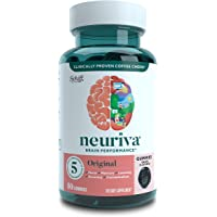 Neuriva Original 葡萄软糖(一瓶50粒)益智脑支持补充剂 磷脂酰丝氨酸 无麸质 不含咖啡因 支持焦点记忆…