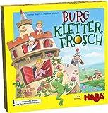 Haba 303631 Burg Kletterfrosch 青蛙爬城堡 趣味技能/记忆游戏 具有3D建构和木制抽拉攀爬…