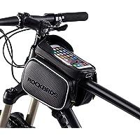 RockBros 自行车包防水顶筒手机包前框山地自行车触屏手机支架适用于 iPhone X、8 Plus 7 下方 5…