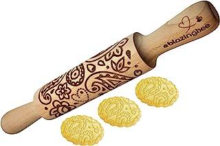 压花滚针 PAISLEY 43.18 厘米大号多功能雕刻环保天然烘焙配件工具,适用于糕点和艺术装饰品