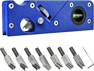 倒角刨 7 种倒角刀头 适用于边角平整快速边缘修剪 45 度边角飞机 带气泡水平