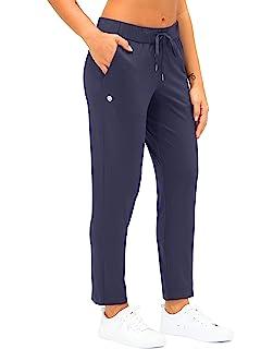 G Gradual 女式 7/8 长裤带深口袋工作裤,适合女士运动、锻炼、休闲穿着