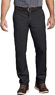 Dickies 男式修身锥形弹力斜纹工装裤 黑色//白色 30W x 32L