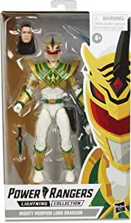 Power Rangers 闪电系列 6 英寸 Mighty Morphin Lord Drakkon 可收藏人偶玩具,灵感来自破碎网格漫画