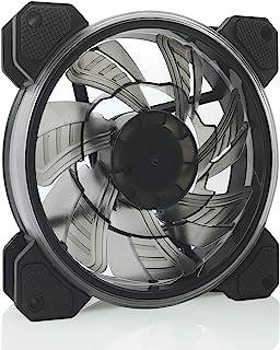 YEEPHTECH 电脑机箱风扇 120 毫米 RGB LED PWM 高性能散热箱风扇,8 个防震垫,800-1800 RPM,单包(不含控制器)ONK-V1