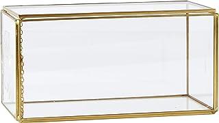 VILA Collection(Villa Collection) 玻璃保护壳 黄铜 20 x 10 x 10 cm 盒子 - Glass Metal 340204