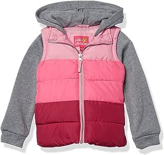 Pink Platinum 女婴中等重量背心 2fer 夹克