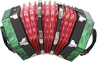 手风琴,专业 20 个按钮手风琴英式乐器配件,带便携袋(*)