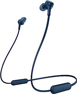 Sony 索尼 WI-XB400 无线入耳式超重低音耳机/带麦克风电话,蓝色(WIXB400 / L)