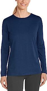 coolibar UPF 50+ 女式长袖 t 恤–防晒