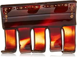 Caravan 32 棕褐色和棕色水钻带耳钉装饰这款传统发爪