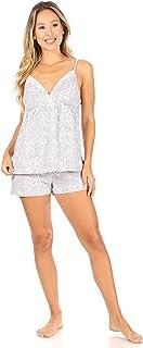 TAHARI 女式系带 V 领睡衣短裤套装