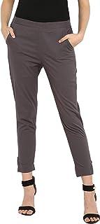 Janasya 女士棉质纯色窄裤