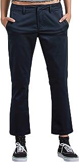 Volcom 女式青少年 Frochickie 经典斜纹棉布裤