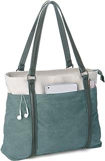 Scioltoo 女式大号手提包 单肩钱包 15.6 英寸笔记本电脑工作包