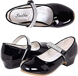 STELLE 女孩玛丽珍鞋低跟儿童派对礼服鞋