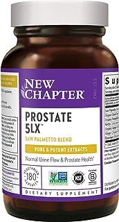 New Chapter Prostate 素食胶囊补充剂 - Prostate 5LX 与锯棕榈 + 硒有益于男性器官 - 180 粒