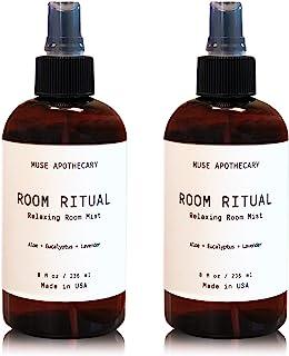 Muse Bath Apothecary Room Ritual - 芳香和放松房间喷雾,8 盎司,加入天然精油 Aloe + Eucalyptus + Lavender 2 件装
