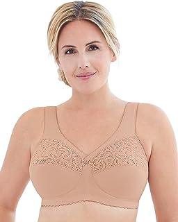 Glamorise 女士加大码全身形 MagicLift 棉质无钢圈支撑文胸 #1001