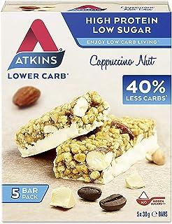 Atkins 卡布奇诺坚果,低碳,高蛋白质零食棒(4 x 5 块 30 克)