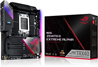 华硕 ROG Zenith II Extreme TRX40 游戏 AMD *三代 Ryzen Threadripper sTRX4 EATX 主机板 16 Infineon Power Stage,PCIe 4.0,Wi-Fi 6 (802....