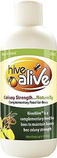 HiveAlive - 蜂巢饲料增强剂,用于养蜂巢,改善蜜蜂*和冬季生存,增加殖民地人口和蜂蜜生产液体蜂巢饲料 - 500ml