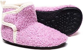 華ge 家用防滑冬季温暖室内家居拖鞋袜儿童男孩女孩