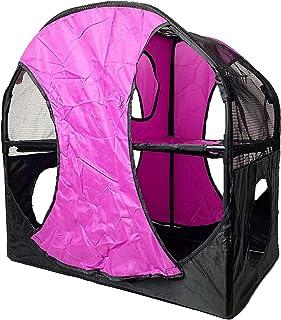 kathson 便携式兔子帐篷隧道小动物复合屋猫公寓游戏围栏 适合兔子休息的隐藏游戏