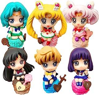 美少女战士蛋糕装饰玩偶玩具套装 6 件派对用品 生日卡通人物装饰