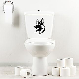 StickAny 浴室贴花系列德国牧羊犬贴纸,适用于马桶、洗澡、座椅(默认) 黑色 1288-97209