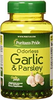 Puritan's Pride 无味大蒜和大蒜 500 mg / 100 mg-250 快速释放软胶囊