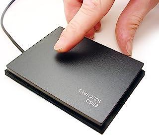"""超大Ergo Touchpad ETP001ELTP 有线 USB - 黑色 - 薄 - 可编程和多点触控, 下载软件 - 3.814""""X3.080"""".25"""" 尺寸"""