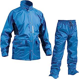 Makku 雨衣 上下装 男款 (耐水压:10000毫米H2O) (背面/腋下 透气功能) (反射印花) (防止水滴浸入) (前开拉链) L 水蓝色 AS-5800