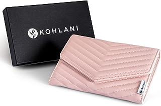 Kohlani 旅行首饰收纳钱包 - 柔软粉色人造皮革支架,适用于配饰收纳盒卷,适用于耳环、项链、戒指、手链和手表