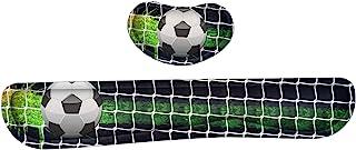 Meffort Inc 游戏键盘手腕垫和鼠标腕托垫支撑组合套装 – 耐用的人体工程学防滑底座 足球